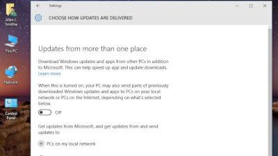 Disable Windows 10 Peer Uploads