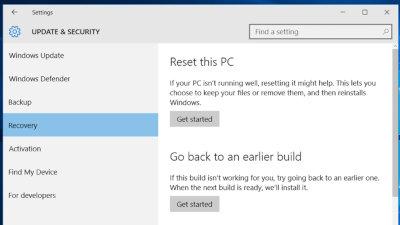 Windows 10 Rollback Build