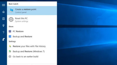 Finding and opening System Restore